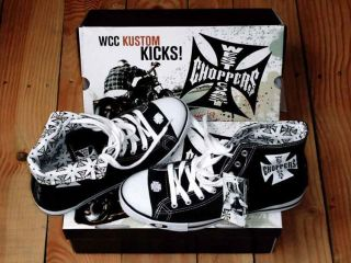 WEST COAST CHOPPERS SHOES KUSTOM KICKS BLACK