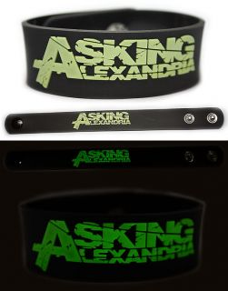 ASKING ALEXANDRIA Rubber Bracelet Wristband Glows in The Dark