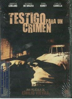 DVD TESTIGO PARA UN CRIMEN MOVIE ARGENTINA SEALED EMILIO VIEYRA