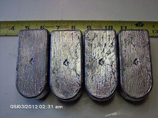 FOUR 4 Lb. Rock Cod Lead Sinkers Total 16 POUNDS fishing weights