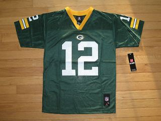 NEW   Aaron Rodgers #12 Green Bay Packers Reebok Boys Youth Size