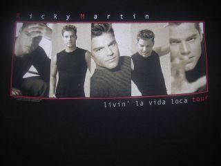 1999 RICKY MARTIN LATIN POP ROCK BAND TOUR SHIRT