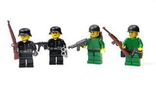 Custom LEGO Minifig WWII soldier German and U.S. army