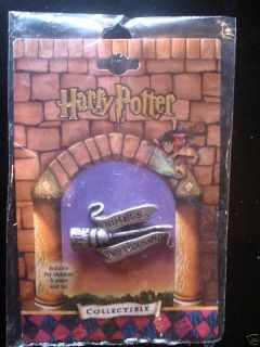 Harry Potter Button Pin Pewter Nimbus Two Thousand 2000