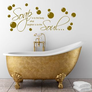 wall quote Soap Body Wall Sticker Decal Transfer Mural Stencil Art