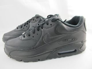 NEW MENS NIKE AIR MAX 90 302519 001 BLACK/BLACK