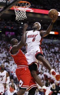 54 LeBron James Miami Heat 2012 NBA Champion MVP 14x22 Poster