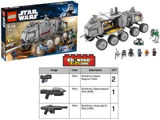 LEGO 8098 Star Wars Clone Turbo Tank Anakin Ahosoka Aayla Cad