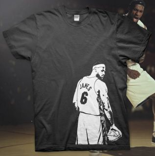 LEBRON JAMES   High Quality Cotton T Shirt NBA MIAMI HEAT Ball Dunk 06