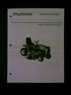 MURRAY RIDING MOWER 42 DECK S 1254 776007 PARTS MANUAL