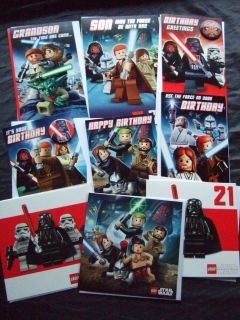 LEGO STAR WARS ~OFFICIAL BIRTHDAY OR BLANK CARDS ~ choice of designs