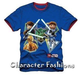 STAR WARS Shirt Tee Size 4 5 6 7 LEGO HANS SOLO R2D2 C3PO YODA