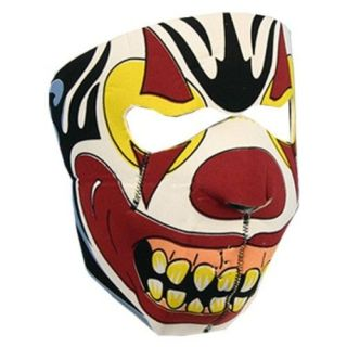 NEOPRENE EVIL CLOWN FULL MOTORCYCLE FACE MASK   FM 1015