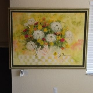 Lee Reynolds Burr Vanguard studios Floral Painting Stunning!