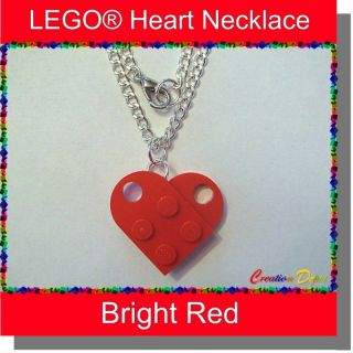 LEGO® Fashion Heart Dangle Necklace   Valentines Day Sweetheart Love