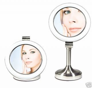 /1X Dimmable Sunlight Dual Sided Lighted Vanity MakeUp Mirror SLV410