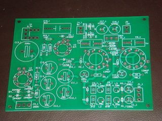 STEREO 12AU7 ECC82 TUBE LINE AMPLIFIER PCB BASED ON AN M 6 CIRCUIT