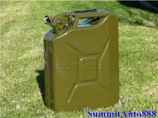 Nato Green Jerry Can / Portable Fuel Gas Tank 20L 5 Gallon w/ Spout