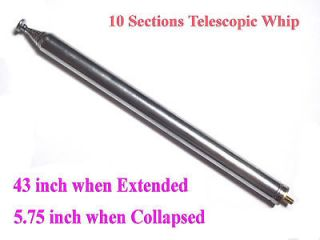 43 inches Long Telescopic Antenna Whip Ham Radio Project RC toy Radio