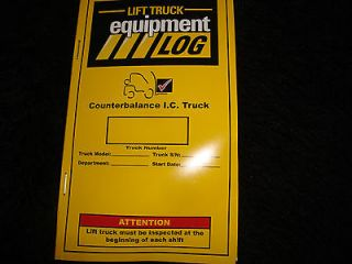 LIFT TRUCK EQUIPMENT LOG COUNTERBALANCE I.C. TRUCK