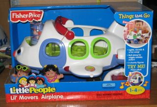 MATTEL FISHER PRICE LITTLE PEOPLE LIL MOVERS AIRPLANE