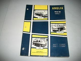 1959 1967 ENGLISH FORD ANGLIA PARTS CATALOG VERY CLEAN CONDITION