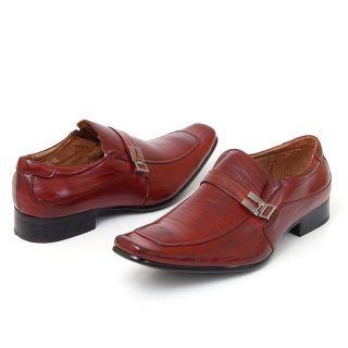 Dress Shoes Buckle Strap Loafers Slip On Shoe Horn Black Brown Tan