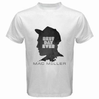 New MAC MILLER Best Day Ever T Shirt Rap Hip Hop White 2