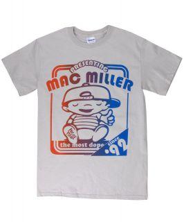 Mac Miller AUTHENTIC Grey Poster Most Dope Tee Shirt Men 3656