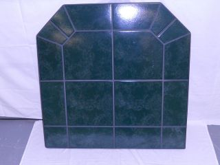 CLASSIC GREEN TILE CORN PELLET STOVE BOARD 37 LONG x 37 WIDE 1 1/4