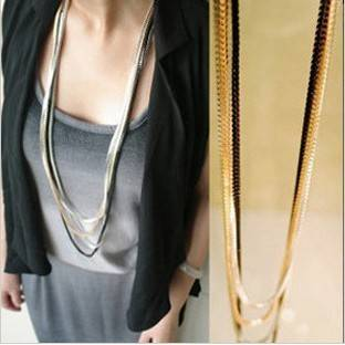 long multilayer fashion necklace in Necklaces & Pendants