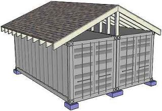 Shipping Container Steel Building Home House DIY Plans CD *Original