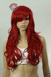 2012 super long red curly hair womens Cosplay wig/wigs