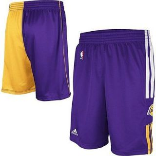 Los Angeles Lakers Adidas On Court Pre Game Warm Up Shorts $40.00