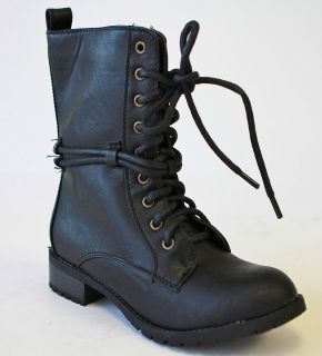 Alice 2 women Low Heel Knight & Military ankle combat Boots British
