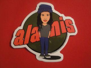 Alanis Morissette Concert Tour Vtg Sticker Decal Licensed by C&D Rock