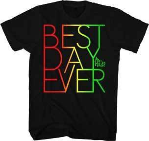 MAC MILLER Best Day Ever Rasta Colors S M L XL tee t Shirt NEW rap hip