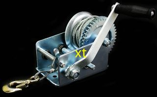 Zinc Plated Heavy cable Steel gear hand winch towing boat trailer new