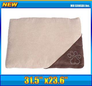 31.5 Bolster Bed w/ Zipper Pet Dog Cat Bed Mat Cover Foot Print