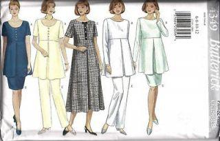UNCUT Butterick Pattern Maternity Dress Top Skirt Pants