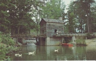 The Grist Mill at Stone Mountain Georgia Postcard