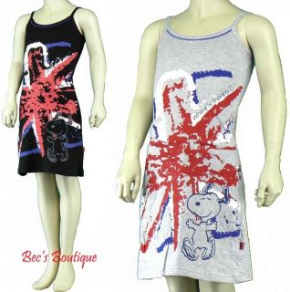 Girls Nighties Dress Snoopy Union Jack Flag Design Childrens Nightwear