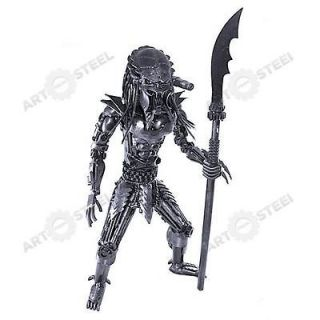 Handmade Predator With Spear (2ft)   Scrap Metal Sculpture