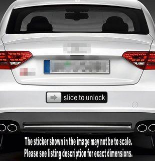 slide to unlock Sign Funny Vinyl Sticker Decal Vehicle Truck Car Van