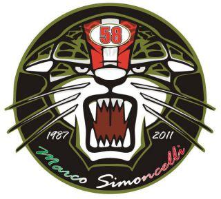 Marco Simoncelli 58 RIP Sticker Decal Aufkleber Pegatina Adesivi