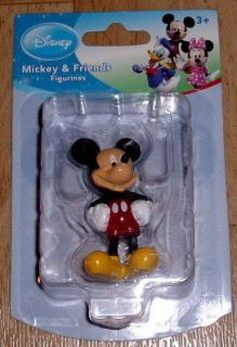 DISNEY CUTE MICKEY MOUSE FIGURINE CAKE TOPPER OR PARTY FAVOR NEW IN