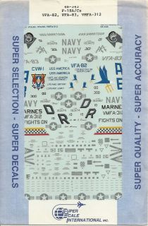 48 SuperScale Decals Hornet F 18A VFMA 312 F/A 18C VFA 82 VFA 83