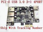 PCI E USB3.0 3.0 3+1 4 PORT LOW PROFILE BRACKET WINDOWS 7 32 / 64 BIT