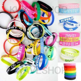 Wristband BIGBANG JYJ TVXQ SHINee SNSD EXO SUPER JUNIOR Bracelet