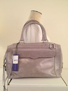NWT REBECCA MINKOFF MAB MINI MORNING AFTER BAG SATCHEL PALE GREY